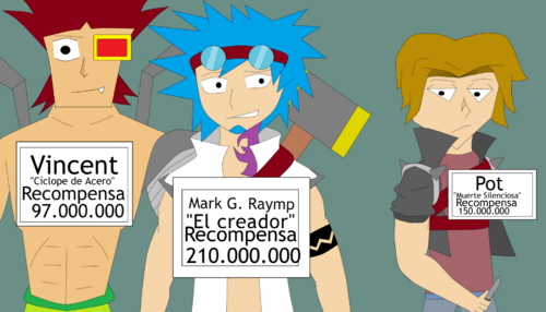 Raymp, Pot y Vincent