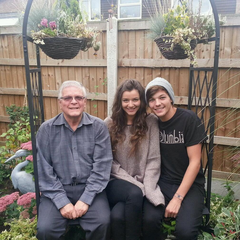 With Louis's grandfather in November 2013