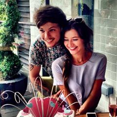 Celebrating Eleanor's birthday in July 2013