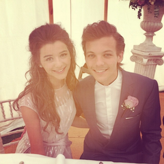 At Louis's mother's wedding in July 2014