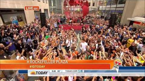 HD One Direction - Beautiful, Best Song Ever & Kiss You - Today Show Concert 8-23-13
