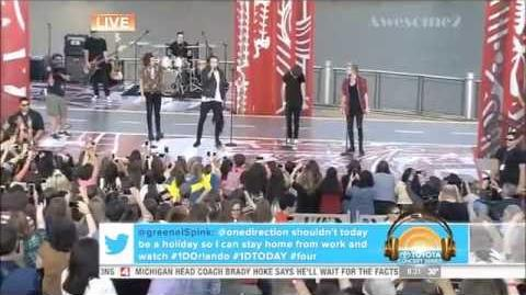 One Direction Singing Steal My Girl Live Without Zayn Malik