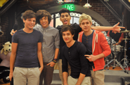 One Direction on the iCarly Studio