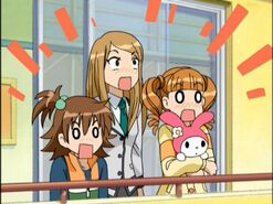 Kanade and her sisters being shocked