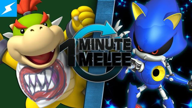 Bowser Jr  VS Metal Sonic (Super Mario Bros  VS Sonic the
