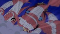 L'Ozu ataca en Sanji i en Chopper