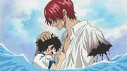 Shanks salva en Ruffy