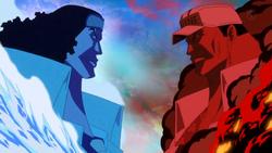 Aokiji contra Akainu