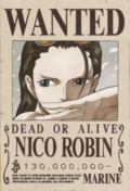 Nico Robin Recompensa Actual