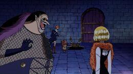 En Hogback dient a la Cindry que deixi passar els pirates
