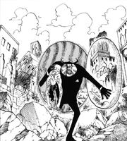 Lucci carried by Blueno