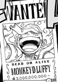 Monkey D. Ruffy Recompensa Actual