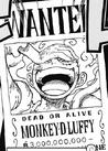 Monkey D. Ruffy Recompensa Actual