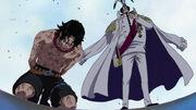 Sengoku revelant el pare de l'Ace