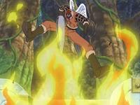 Shura ataca Chopper i Merry