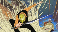 Sanji vs Wanze