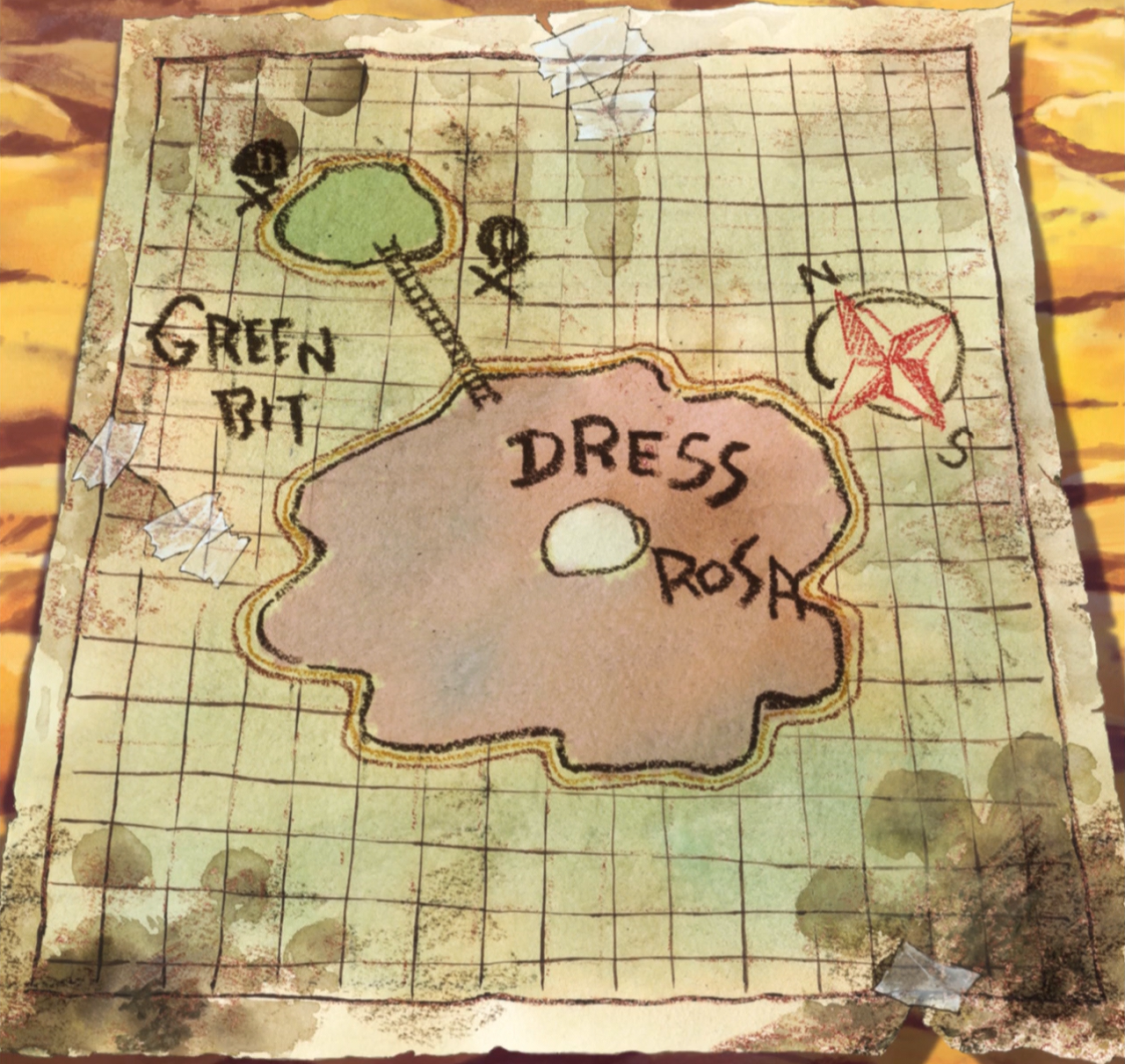 Image - Dressrosa and Green Bit Map.png | One Piece Wiki | FANDOM ...