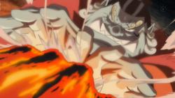 Jinbe detiene el ataque de Akainu