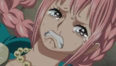 Rebecca llorando