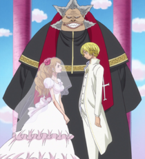 Sanji and Pudding at the Altar