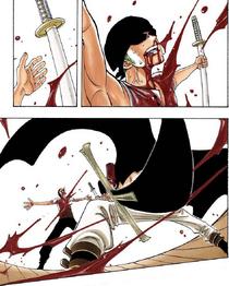 Михок почти убивает Зоро