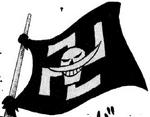 Bandera original de los Piratas de Barbablanca