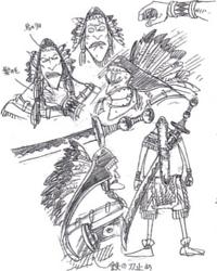 Boceto de Golass detallada
