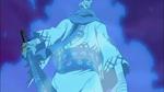 Ryuma en feu portant le Shuusui