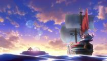 Film Gold Carina sails away