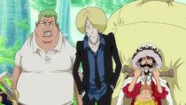 Drip und der falsche Zoro treffen auf den echten Luffy
