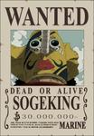 Primer cartel de recompensa de Usopp