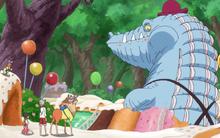 El equipo de recuperación de Sanji se encuentra con un cocodrilo