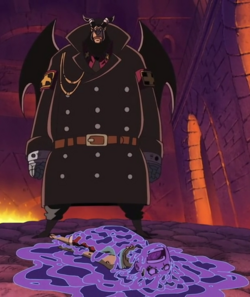 Luffy vaincu par Magellan
