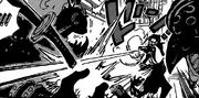 Изо выбивает пистолет из рук Кинга