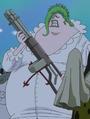 Coribou avec sa mitrailleuse
