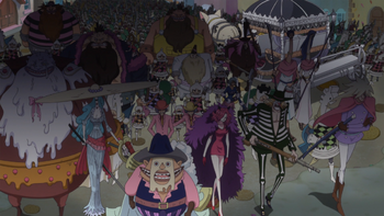 Monkey D. Luffy e Nami Vs Exército da Fúria