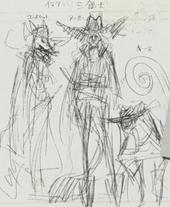 Arte conceptual de los Tres Mosqueteros de Inuarashi