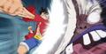 Luffy frappe Cesar au visage 2