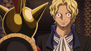 Sabo reveals himself to Luffy
