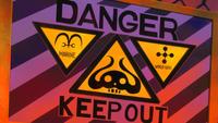 Punk Hazard Keep Out Sign