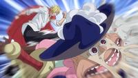 Sanji attaque Bobbin