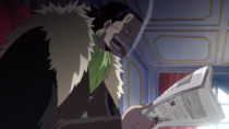 Crocodile Reads the News About Luffy