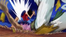 Luffy derrota a Bellamy