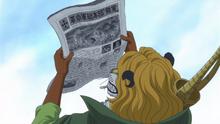 Pedro lee en las noticias la destrucción de Baltigo