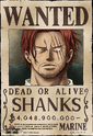 Shanks Wanted Poster