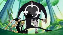 Brook Protecting Usopp and Sanji
