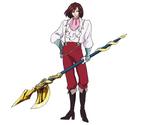Gardoa con su lanza