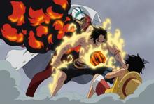Portgas D. Ace tué par Sakazuki