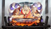 Одэн ест одэн, приготовленный на останках Кацудзо
