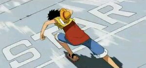 Luffy gana el Donut Race